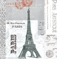 4 x Paper Napkins Paris