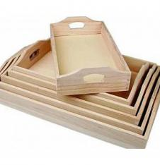 Wooden Trays to Decorate in 6 Sizes