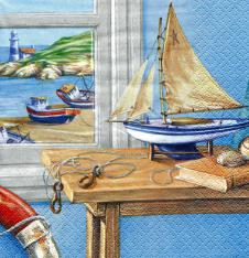 4 x Paper Napkins Ship to Shore